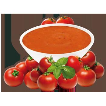 Préparation pour potage à saveur de tomate et basilic